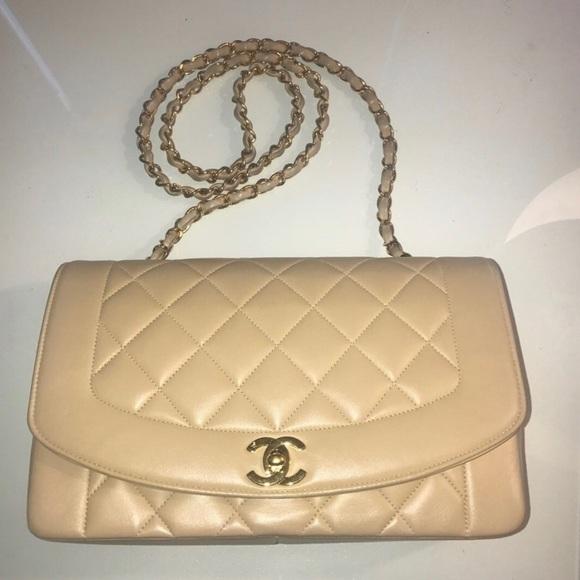 f28dfb0f698f36 CHANEL Bags | Sold Ml Diana Beige Lambskin Single Flap | Poshmark
